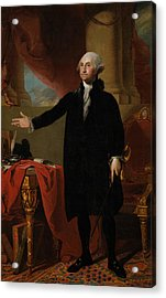 George Washington Lansdowne Portrait Acrylic Print by War Is Hell Store