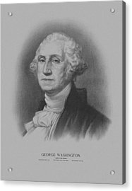 George Washington Acrylic Print by War Is Hell Store
