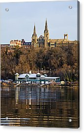 Georgetown University Waterfront  Acrylic Print by Brendan Reals