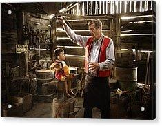Geppetto's Workshop Acrylic Print by Karen Alsop