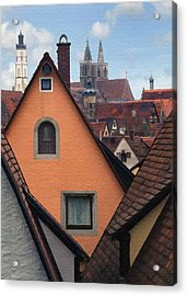German Rooftops Acrylic Print by Sharon Foster