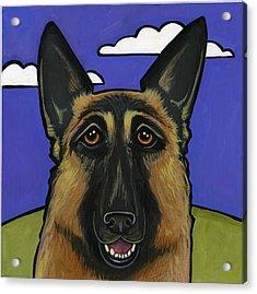 German Shepherd Acrylic Print by Leanne Wilkes