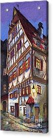 Germany Ulm Old Street Acrylic Print by Yuriy  Shevchuk