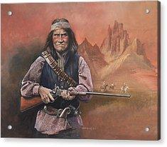 Geronimo Acrylic Print by Chris Collingwood