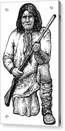 Geronimo Acrylic Print by Karl Addison
