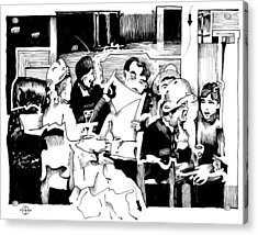 Gervex Paris Cafe Acrylic Print by Gary Peterson