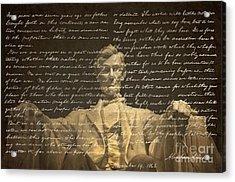 Gettysburg Address Acrylic Print by Diane Diederich