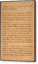 Gettysburg Address Acrylic Print by Granger