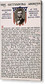 Gettysburg Address Acrylic Print by International  Images