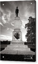 Gettysburg National Park 1st Minnesota Infantry Monument Acrylic Print by Olivier Le Queinec