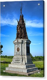 Gettysburg National Park 42nd New York Infantry Memorial Acrylic Print by Olivier Le Queinec
