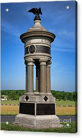 Gettysburg National Park 71st And 72nd New York Infantry Memorial Acrylic Print by Olivier Le Queinec