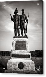 Gettysburg National Park 73rd Ny Infantry 2nd Fire Zouaves Monument Acrylic Print by Olivier Le Queinec