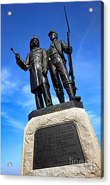 Gettysburg National Park 73rd Ny Infantry Second Fire Zouaves Memorial Acrylic Print by Olivier Le Queinec
