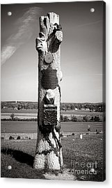 Gettysburg National Park 90th Pennsylvania Infantry Monument Acrylic Print by Olivier Le Queinec