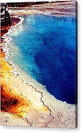Geyser Basin Acrylic Print by Nancy Mueller