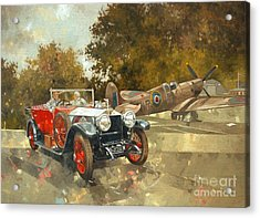 Ghost And Spitfire  Acrylic Print by Peter Miller