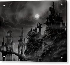Ghost Castle Acrylic Print by James Christopher Hill