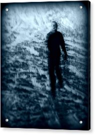 Ghost In The Snow Acrylic Print by Perry Webster