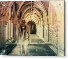 Ghost Of The Abbey Acrylic Print by Georgiana Romanovna