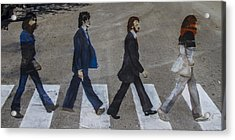 Ghosts Of Abby Road Acrylic Print by Debra and Dave Vanderlaan