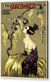Giacomuzzi Italian Vintage Wine  C. 1900 Acrylic Print by Daniel Hagerman
