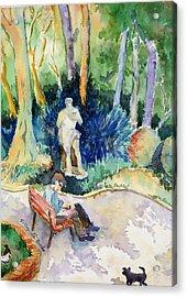 Giardini Publici Acrylic Print by Susan Cafarelli Burke