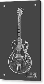 Gibson Es-175 Electric Guitar Tee Acrylic Print by Edward Fielding