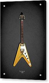 Gibson Flying V Acrylic Print by Mark Rogan