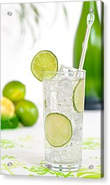 Gin And Tonic Drink Acrylic Print by Amanda Elwell