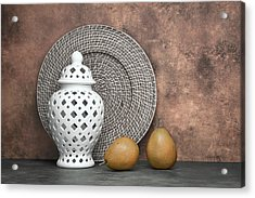 Ginger Jar With Pears I Acrylic Print by Tom Mc Nemar