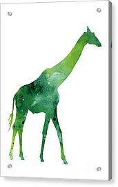 Giraffe African Animals Gift Idea Acrylic Print by Joanna Szmerdt