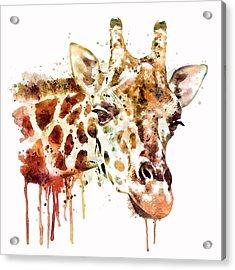 Giraffe Head Acrylic Print by Marian Voicu