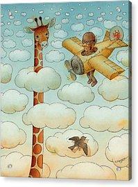 Giraffe Acrylic Print by Kestutis Kasparavicius
