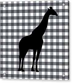 Giraffe Silhouette Acrylic Print by Linda Woods