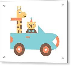 Animal Car Pool Acrylic Print by Mitch Frey