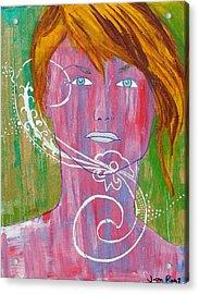 Girl 13 Acrylic Print by Josean Rivera