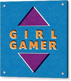 Girl Gamer Acrylic Print by Linda Woods