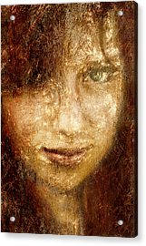 Girl In A Window Acrylic Print by Jeff  Gettis