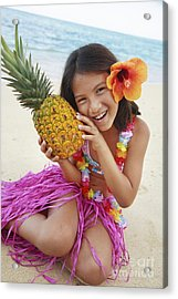 Girl In Tropical Paradise Acrylic Print by Brandon Tabiolo - Printscapes