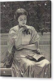 Girl Reading Acrylic Print by Charles Edward Perugini