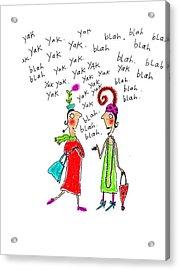 Girl Talk Acrylic Print by Karon Melillo DeVega