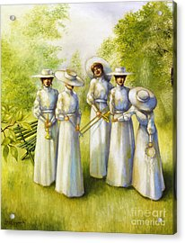 Girls In The Band Acrylic Print by Jane Whiting Chrzanoska