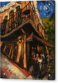Girls Night At Cotton Row Acrylic Print by Carole Foret
