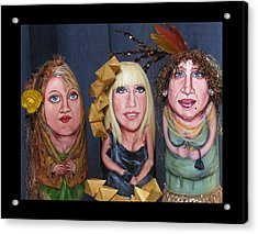 Girls Night Out Acrylic Print by Cathi Doherty