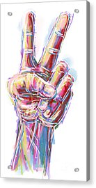 Give Peace A Chance Acrylic Print by Robert Yaeger