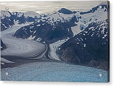 Glacial Curves Acrylic Print by Mike Reid