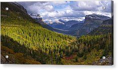 Glacier Storm Acrylic Print by Chad Dutson
