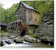 Glade Creek Grist Mill Located In Babcock State Park West Virginia Acrylic Print by Brendan Reals