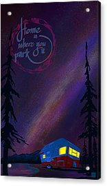 Glamping Under The Stars Acrylic Print by Sassan Filsoof